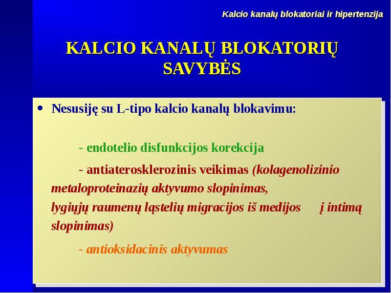 hipertenzija kalcio hipertenzijos profilaktikos pratimai