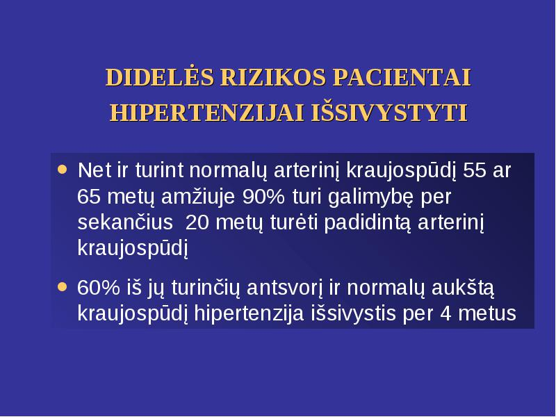 hipertenzija 15 metų amžiaus