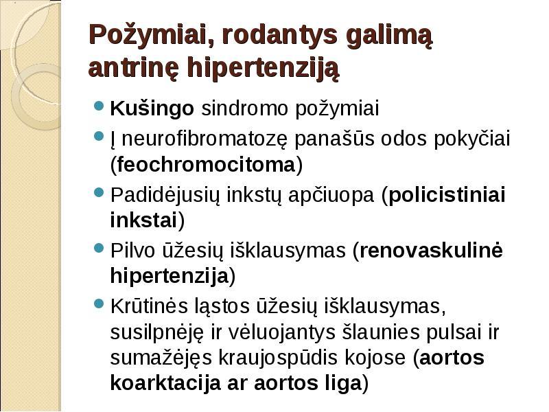 pagrindiniai ligos hipertenzijos požymiai)