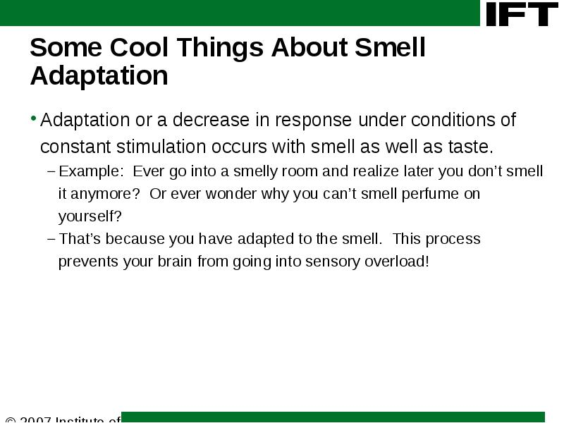 Sensory Science 101 Part I Taste And Smell Speaker Name