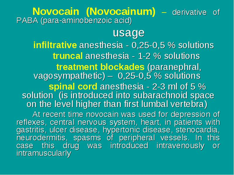 Substances which act in the area of afferent nerves endings