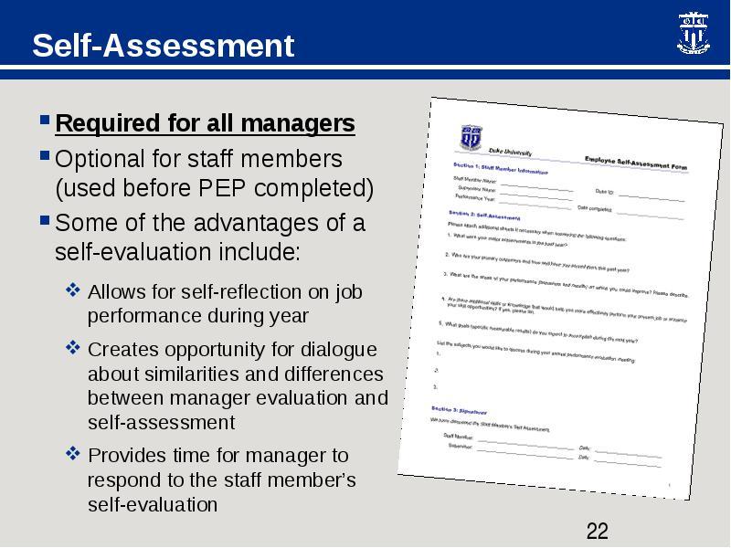 pep evaluation